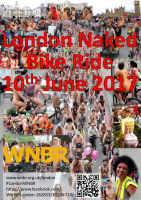 WNBR London 2017 flyer with link to FaceBook page