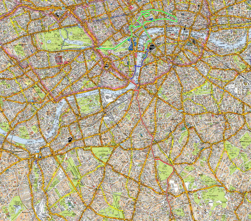 London West Norwood 2013 route.png