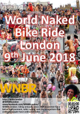 WNBR London 2018 flyer with link to FaceBook page