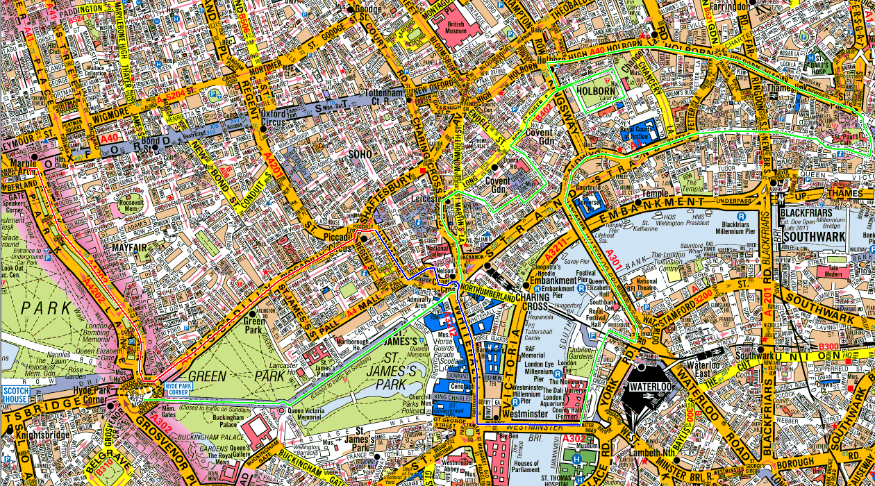 London Marble Arch 2013 route.png