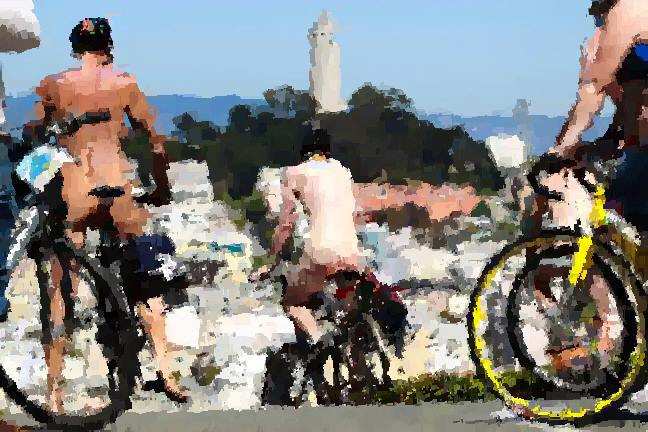 WNBR riders descend Lombard image