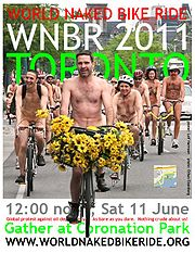 Join Toronto in the World Naked Bike Ride